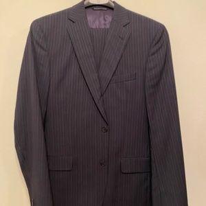 Navy Pinstripe Jack Victor 2 Piece Suit 40L